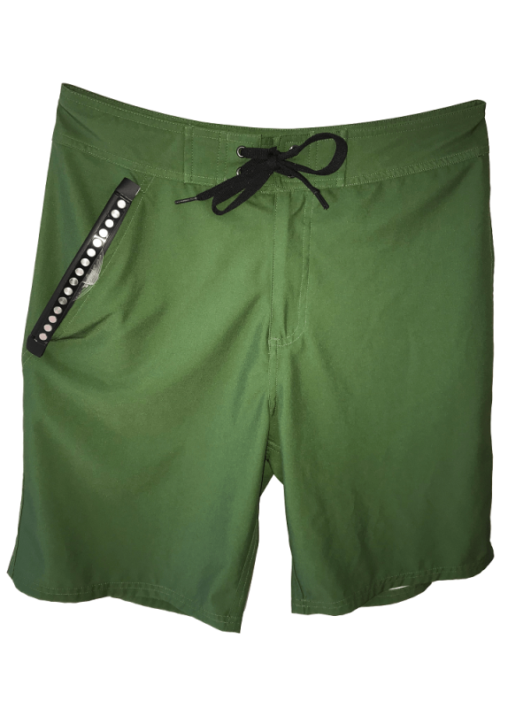 front of green waterproof bathing suit